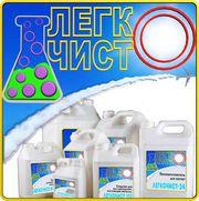 ЛЕГКОЧИСТ-М-5,  мягкое моющее средство для посуды.